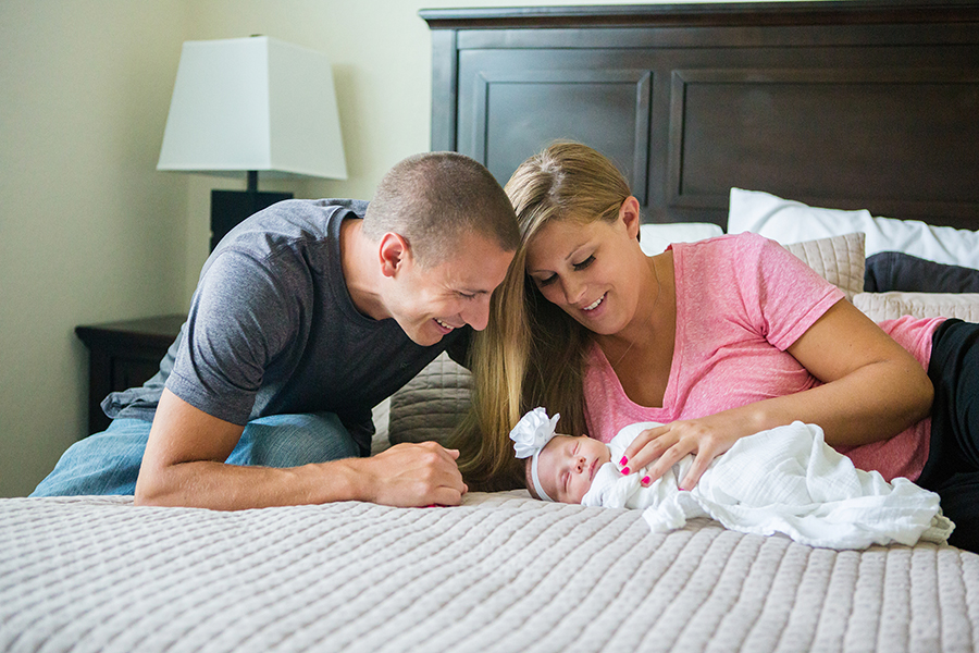 lifestyle newborn three children