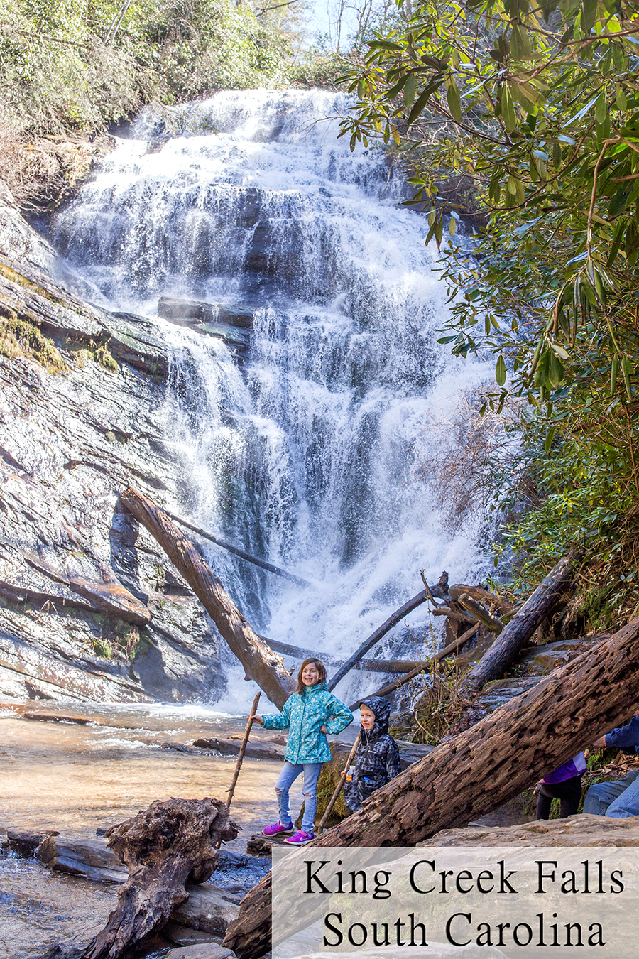 hike King Creek falls South Carolina
