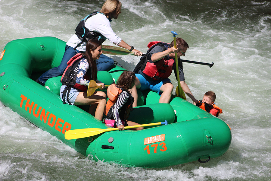 Nantahala River white water rafting with kids