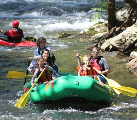 Nantahala River White Water Rafting with Kids